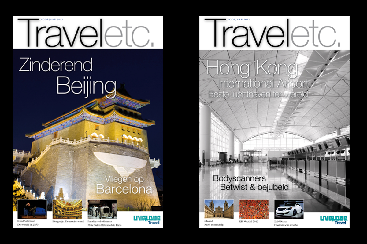 Diverse Covers Uniglobe Travel Holland